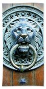 Lion Door Knocker In Norway Beach Towel