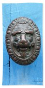 Lion Face Door Knob Beach Towel by Lainie Wrightson