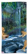 Lion Falls Beach Towel