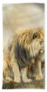 Lion Kiss Beach Towel