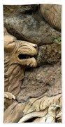 Lion On The Tree Of  Life Beach Towel