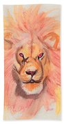 Lion Orange Beach Towel