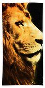 Lion Paint 2 Beach Towel