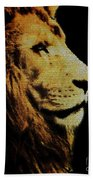 Lion Paint Beach Towel