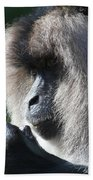 Lion Tailed Macaque Beach Towel