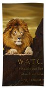 Lion Watchman Beach Towel