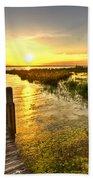 Liquid Gold Beach Towel by Debra and Dave Vanderlaan