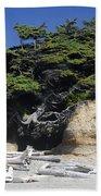 Den Of The Coastal Bigfoot Beach Towel