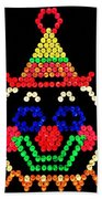 Lite Brite - The Classic Clown Beach Towel
