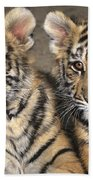 Little Angels Bengal Tigers Endangered Wildlife Rescue Beach Towel