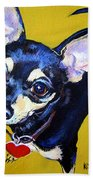 Little Bitty Chihuahua Beach Towel