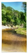 Little Black Creek - Hoffmaster State Park Beach Towel