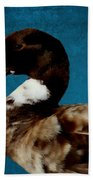 Little Brown Duck Beach Towel