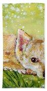 Little Dog Named Fern Beach Towel