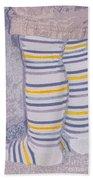 Little Feet-yellow Beach Towel