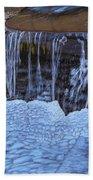 Little Frozen Waterfall Beach Towel