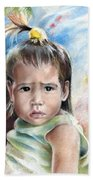 Little Girl From Tahiti Beach Towel