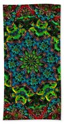 Little Green Men Kaleidoscope Beach Towel