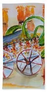 Little Harvest Wagon Beach Towel