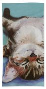 Little Napper  Beach Towel by Pat Saunders-White