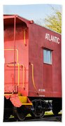 Little Red Caboose Beach Towel