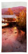 Little River Bridge At Sunset Gatlinburg Beach Towel