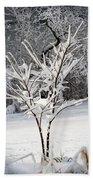 Little Snow Tree Beach Towel by Karen Adams