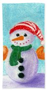Little Snowman Beach Towel