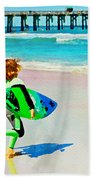 Little Surfer Dude Beach Towel