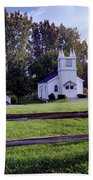 Little Village Chapel Of The Immanuel Lutheran Church Beach Towel