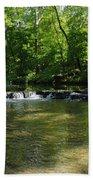 Little Waterfall At Green Lane Pa. Beach Towel
