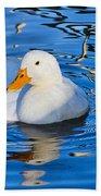 Little White Duck Beach Towel