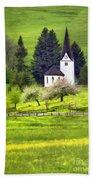 Little White German Church Beach Towel