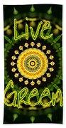 Live Green 1 Beach Towel