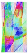 Live Long And Prosper 20150302v1 Color Squares Sq Beach Towel