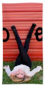 Live Love Laugh By Diana Sainz Beach Towel