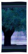 Live Oak Tree In Cemetery Beach Towel