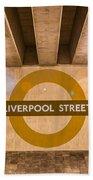 Liverpool Street Underground Beach Towel