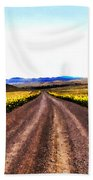 Living On Back Roads Beach Towel