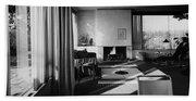 Living Room In Mr. And Mrs. Walter Gropius' House Beach Sheet
