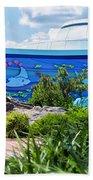 Living Seas Signage Walt Disney World Beach Towel
