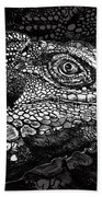 Lizard Profile Beach Towel