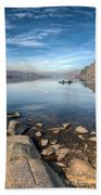 Llanberis Lake Beach Towel by Adrian Evans