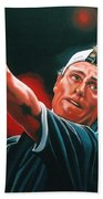 Lleyton Hewitt 2  Beach Towel by Paul Meijering