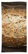 Loaf Of Multigrain Artisan Bread Beach Towel