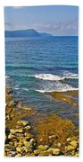 Lobster Cove In Rocky Harbour-nl Beach Towel