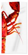 Lobster - The Right Side Beach Towel by Sharon Cummings