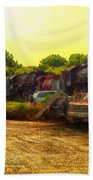 Locomotive Graveyard Beach Towel