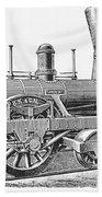 Locomotive Sandusky, 1837 Beach Towel
