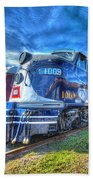 Locomotive Wabash E8 No 1009 Beach Towel